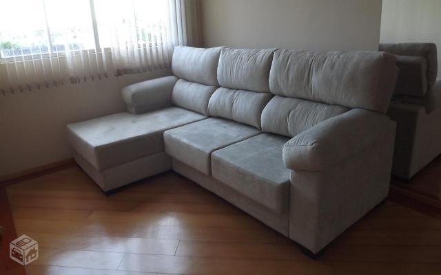 Sofa 4 lugares reclinavel chaise retratil lindo vazlon for Sofa 4 lugares retratil e reclinavel