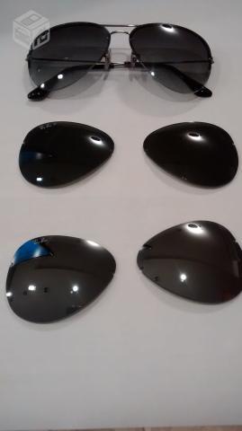 9ef3feba46031 oculos ray ban grafite com 3 pares de lentes r   OFERTAS