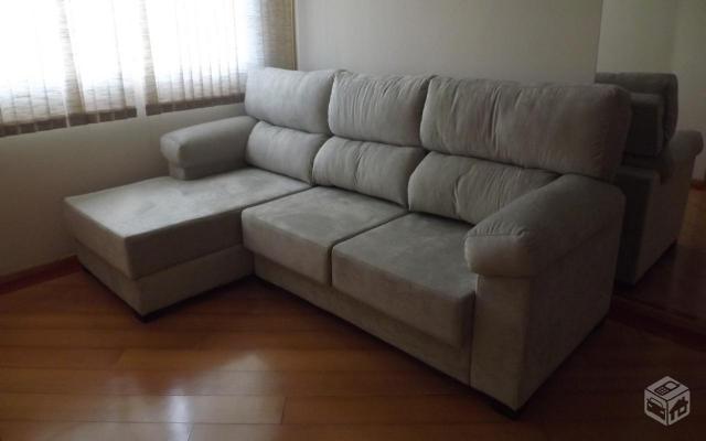 Sofa 4 lugares reclinavel chaise retratil lindo ofertas for Sofa 4 lugares retratil