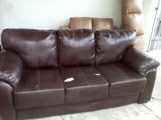 sofa branco couro ecologico 2 e 3 lugares [ OFERTAS ...