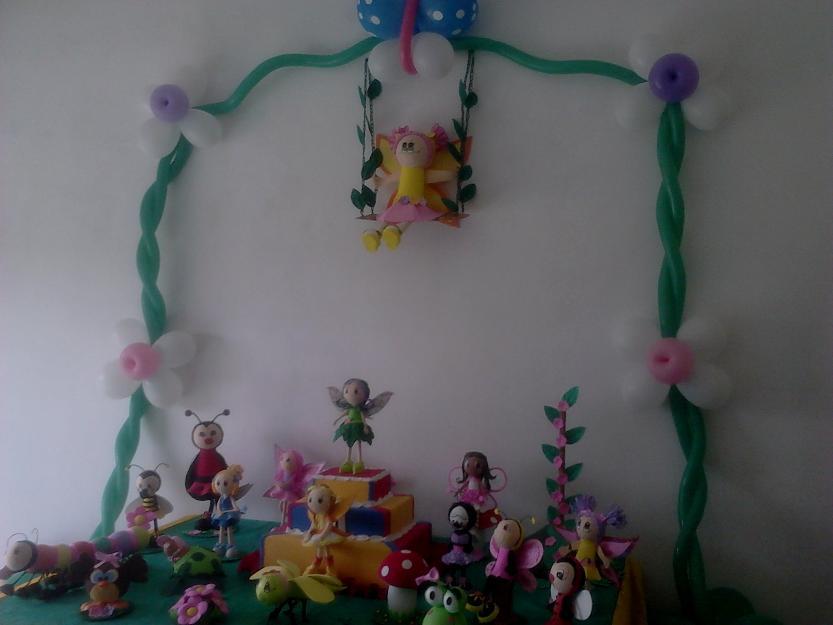 decoracao de festa tema jardim encantado:Linda decoração de festa infantil, tema Jardim Encantado