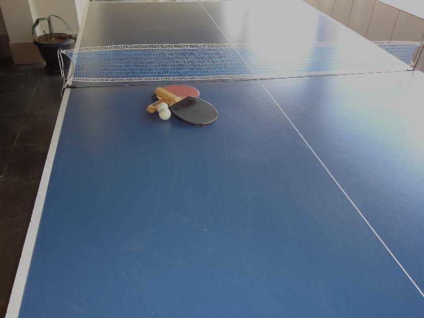 Mesa de ping pong tamanho oficial x m rede e vazlon brasil for Mesa de ping pong usada