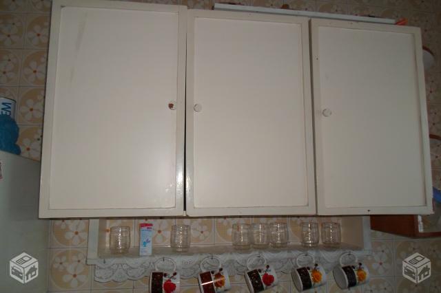 Armario De Cozinha Suspenso Madeira : Armario de portas madeira e formica suspenso r ofertas