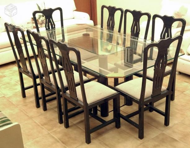 Mesa Sala De Jantar Tampo De Vidro ~ mesa sala de jantar 8 lugares tampo de vidro r tampo de vidro mm com