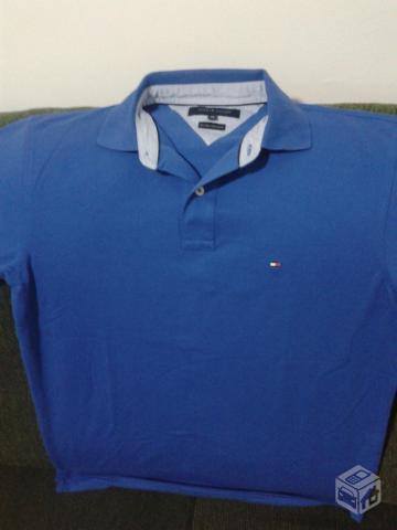 48973d4452 camisa polo tommy hilfiger azul nova original ml r   OFERTAS ...