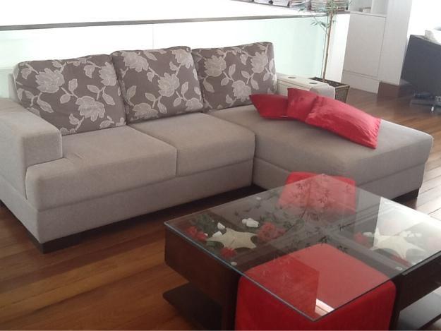 Sofa 2 lugares quadrado argila mesa de centro em vazlon for Sofa 03 lugares com chaise