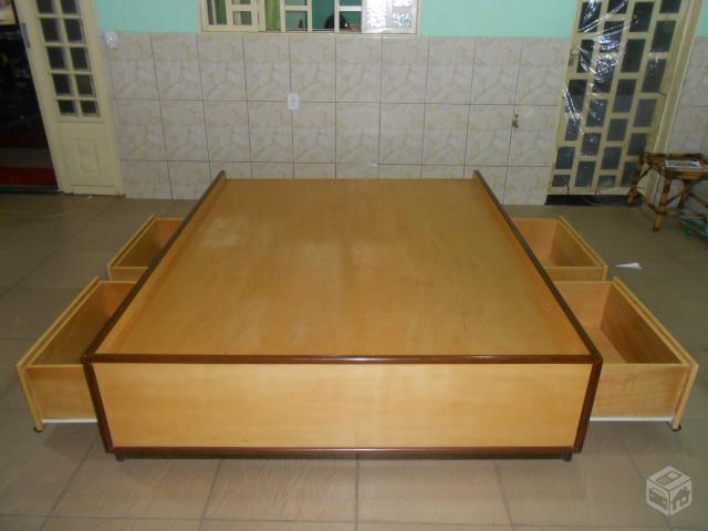 Cabeceirapainel para cama super king em madeira padrao for Medidas de cama super king
