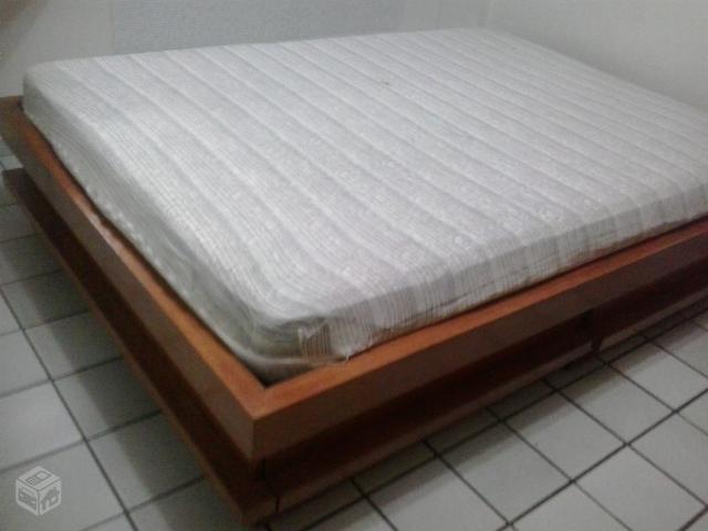 Cama de madeira casal tipo box r ofertas vazlon brasil for Tipos de cama