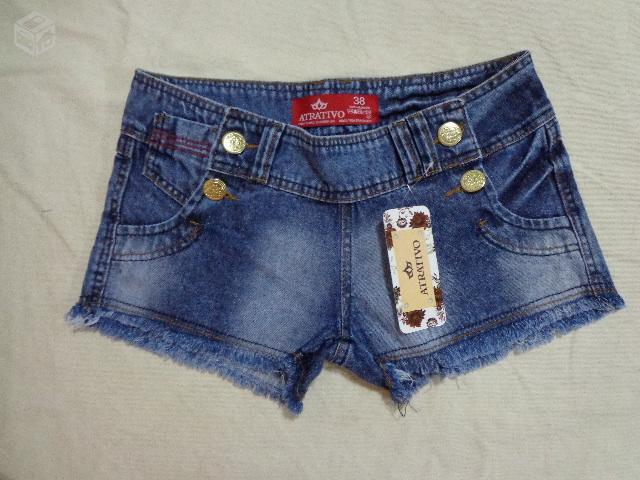 Lindos shorts jeans no atacado