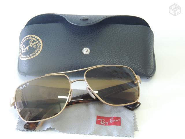 111e26594e075 oculos de sol ray ban round metal dourado polarizado lentes azul ...