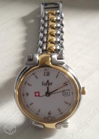 a48547f5536 relogio feminino original suico pulseira couro caixa aco   OFERTAS ...