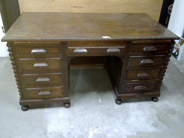 Mesa escritorio colonialmanuelino peroba macica r - Mesa escritorio colonial ...