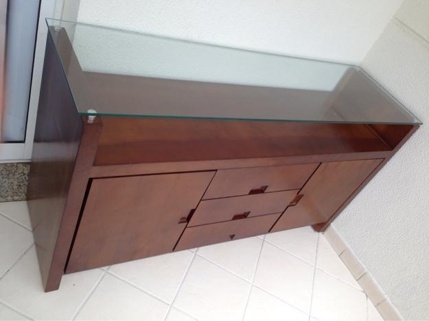 Aparador Sala De Jantar Cor Tabaco ~ buffet aparador novinho r buffet aparador com duas portas três