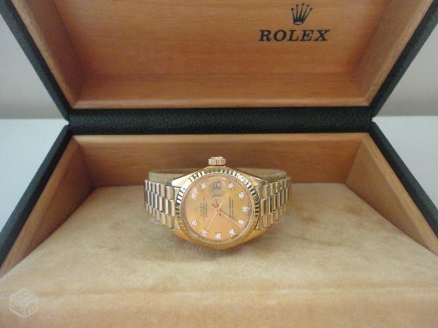 713d5874875 rolex presidente de ouro com pulseira de brilhantes e rubis ...