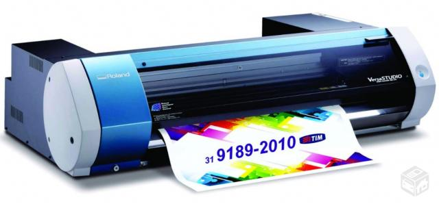 Plotter De Impressao E Corte Eco Solvente Roland Vs