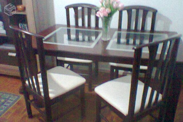 Balcao Para Sala De Jantar Tabaco ~ vende mesa de jantar com 6 cadeiras e balcao cor tabaco  Vazlon