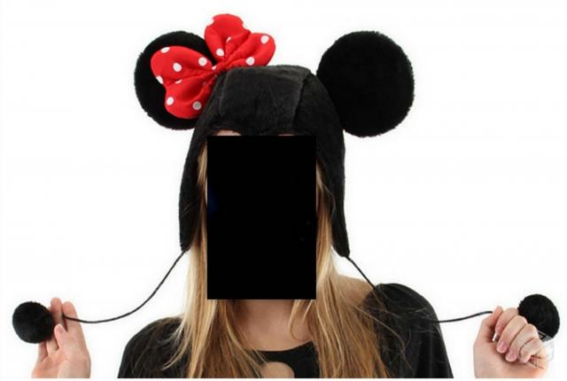 Touca Capuz da Minnie Mouse Disney - R$