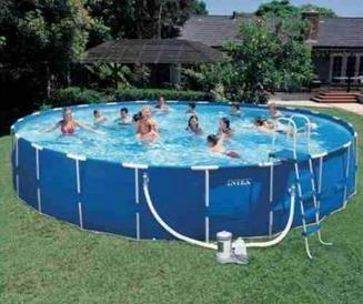 Piscina intex litros 3 o5 metros de diametro vazlon brasil for Piscina 5 metros diametro