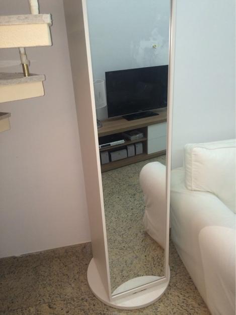Artesanato Suely Alvaro Ramos ~ sapateira multiuso branca com espelho Vazlon Brasil