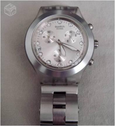 e84410984f6 relogio swatch original prata r   OFERTAS