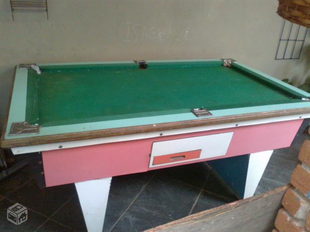 aluguel de mesa jardim guanabara:mesa de sinuca bilhar r mesa de sinuca acompanha bolas e taco usada