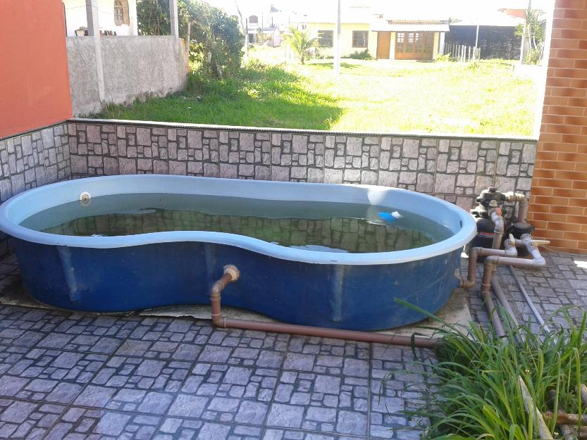 vendo piscina fibra usada vazlon brasil