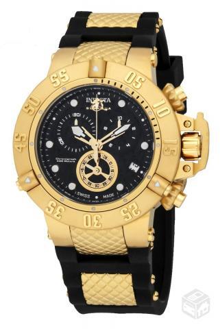 e210507f59b31 Relógio Invicta Subaqua Norma Banhado em Ouro - R
