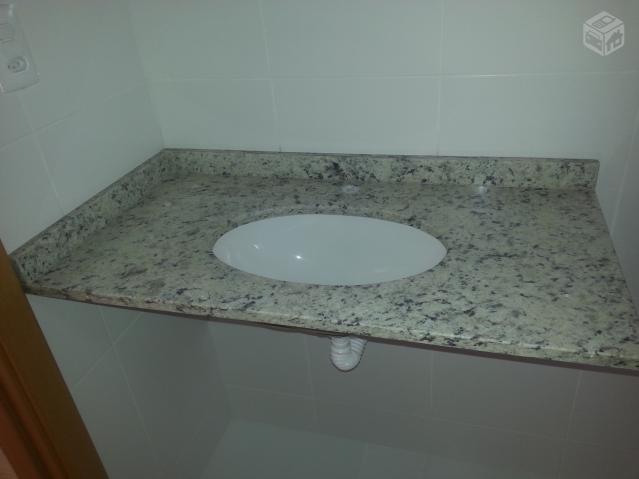 pia de granito para banheiro com cuba celite  Vazlon Brasil -> Cuba Pia Banheiro Granito