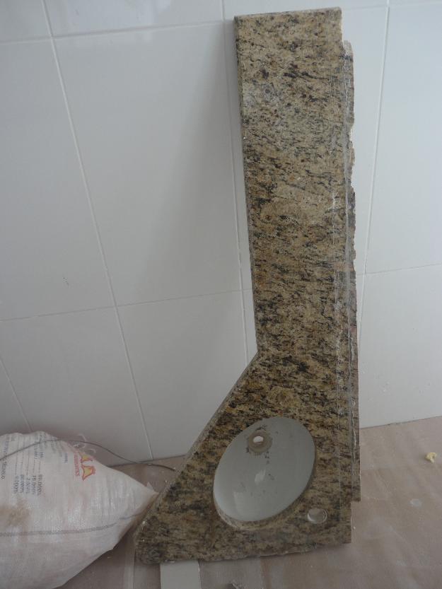Gabinete Para Banheiro Pia de banheiro granito com cuba -> Cuba Para Banheiro Em Granito