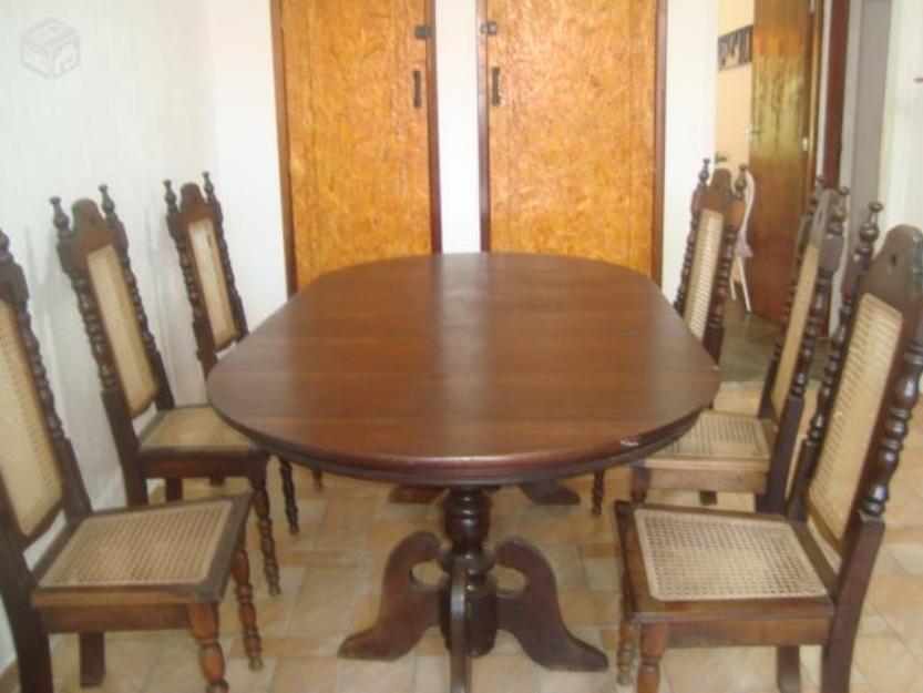 Jogo De Sala De Jantar Em Madeira ~ de jantar de madeira maciça vendo sala de jantar mesa colonial de