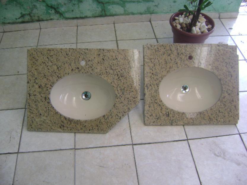 Banheiro De Granito Com Cuba Vendo Duas Pia S De Banheiro Em Granito  Suzuki -> Cuba Para Banheiro Celite