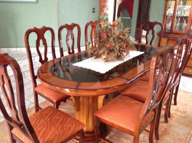 Sala Jantar Usada Em Taubate ~ jantar cristaleira r linda sala de jantar com 8 cadeiras acabamento em
