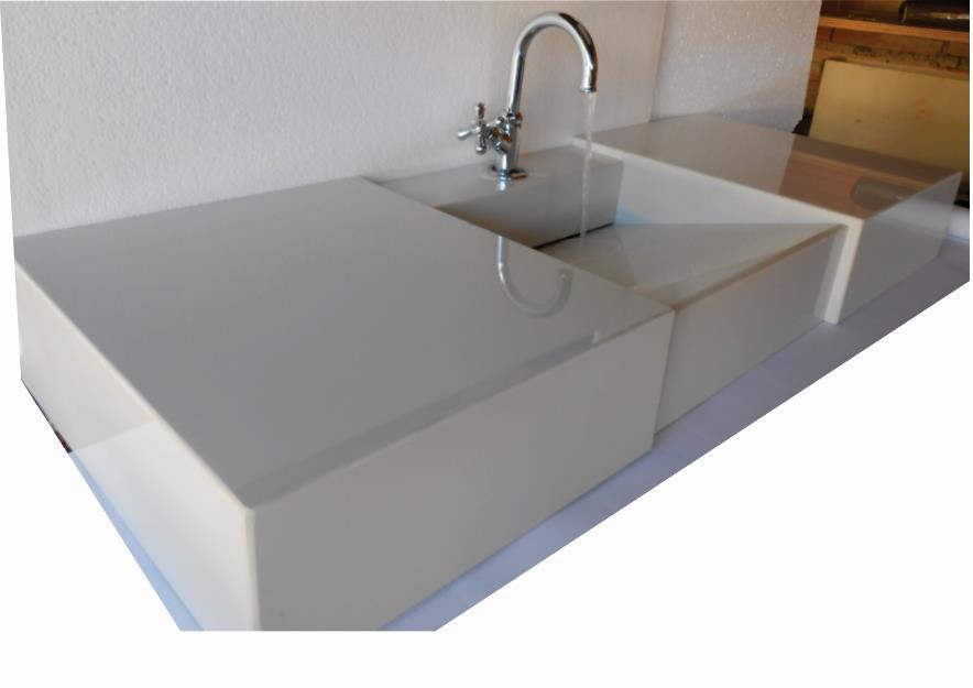 bancada para banheiro com pia de marmore om valvula oculta  Vazlon Brasil -> Valvula Pia De Banheiro
