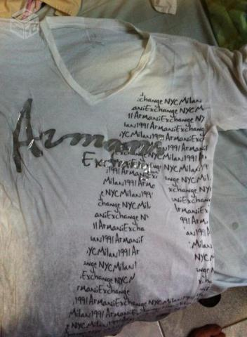 Camiseta armani exchange - R$