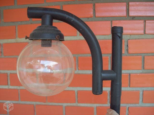 iluminacao jardim poste:poste luminária redondo para jardim r tenho um poste luminária