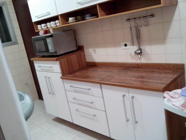 armario de cozinha branco com imbuia  Vazlon Brasil # Armario De Cozinha Safira Bartira