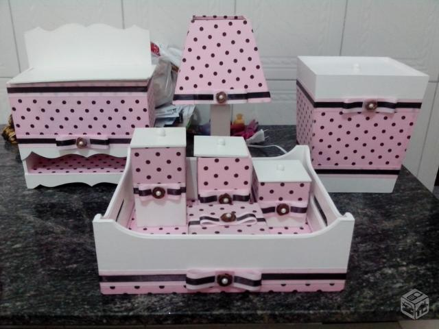 kit higiene bebe personalizado rosa e marron r [ OFERTAS ] Vazlon Brasil -> Como Pintar E Decorar Kit Higiene Para Bebe Em Mdf