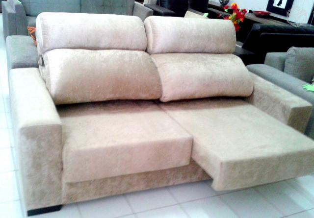 Sofa 2 ou 3 lugares com encosto reclinavel e retratil for Sofa 03 lugares retratil e reclinavel