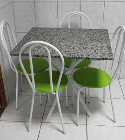 Mesa granito usada 4 cadeiras ofertas vazlon brasil - Mesa de granito ...