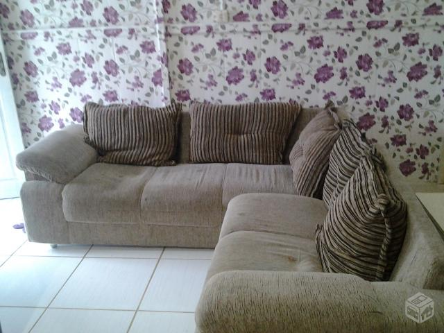 Conjunto sofa de canto 5 lugares avila chenille vermelho for Sofa 5 lugares canto
