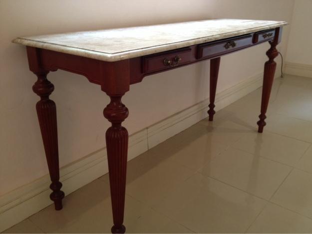 Arame Artesanato Colorido ~ aparador tipo buffet com tampo de marmore em madeira Vazlon Brasil