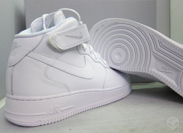 nike air force 1 cano alto branco