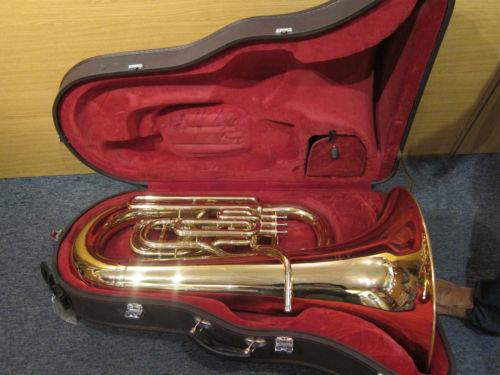 Besson International BE EE flat 4 Valve Tuba: Lacquer;