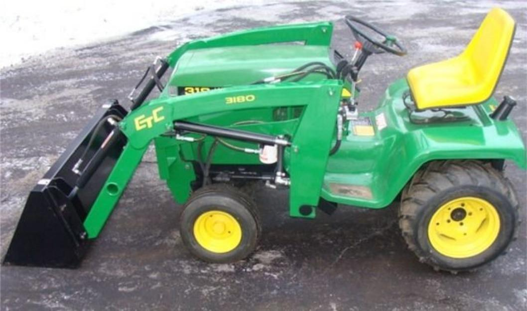 Used Lawn Tractor With Front Loader : John deere front end loader attachments car interior design