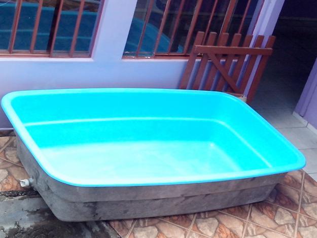 2 cadeiras de fibra para piscina usadas vazlon brasil for Piscina 7 mil litros