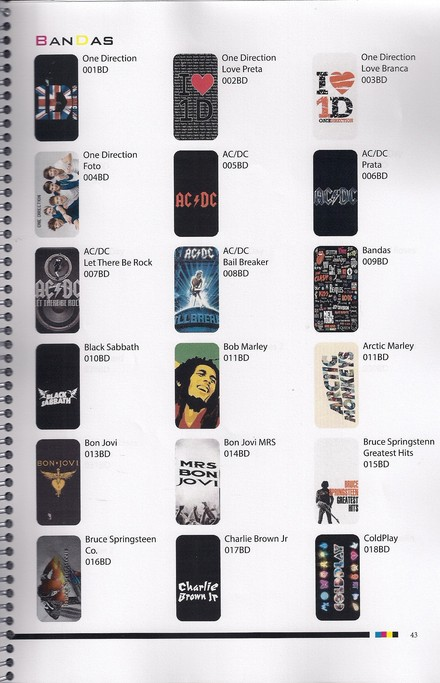 CAPA CASE GALAXY Y S - BANDAS DE ROCK E POP VARIOS