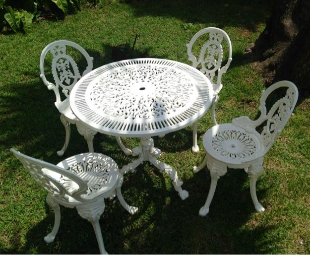 mesa jardim ombrelone:banco para jardim ou varanda ferro fundido
