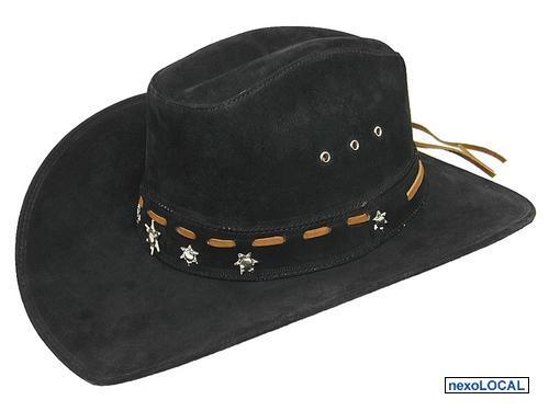 chapeu de couro legitimo modelo americano contry style largadao com ... 239d9b88428