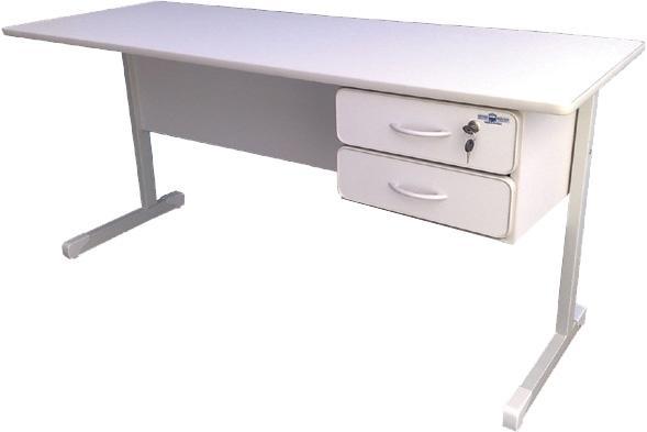 Escrivaninha Para Quarto Em Curitiba ~ biro cinza com 2 gavetas semi novo  Vazlon Brasil