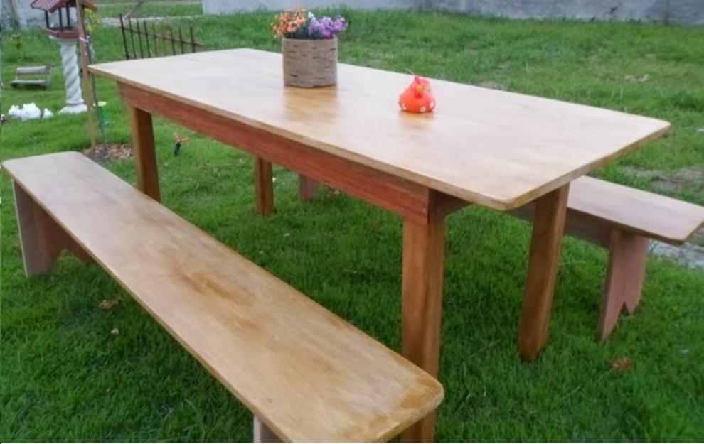 banco de jardim mesa:bancos poltronas mesas de madeira macica rustico